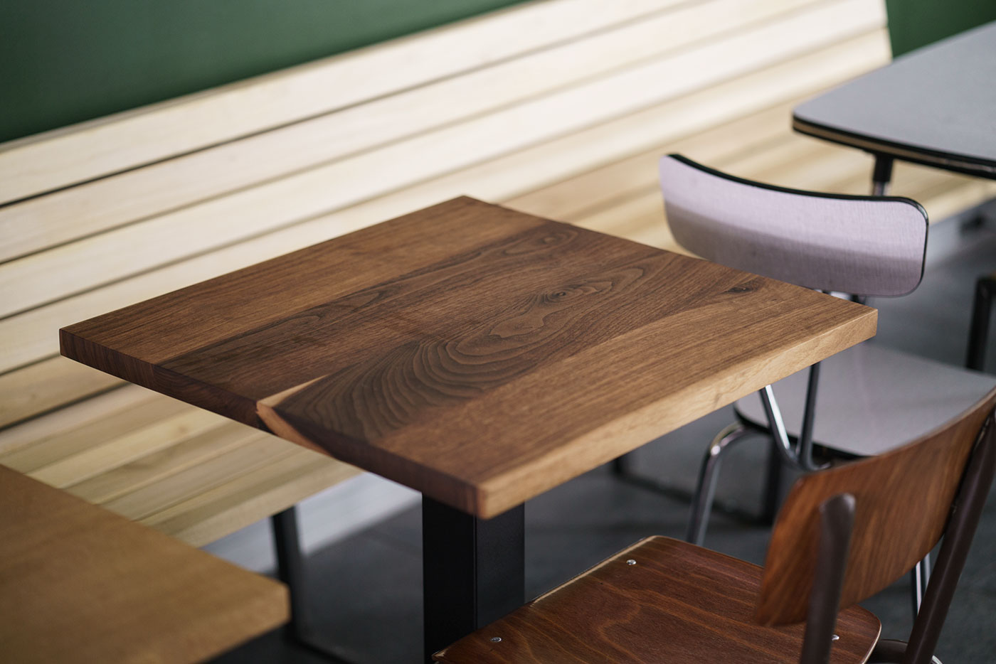 Table Noyer Design Walnut Table Ouste Brussels Custom Furniture Space Design