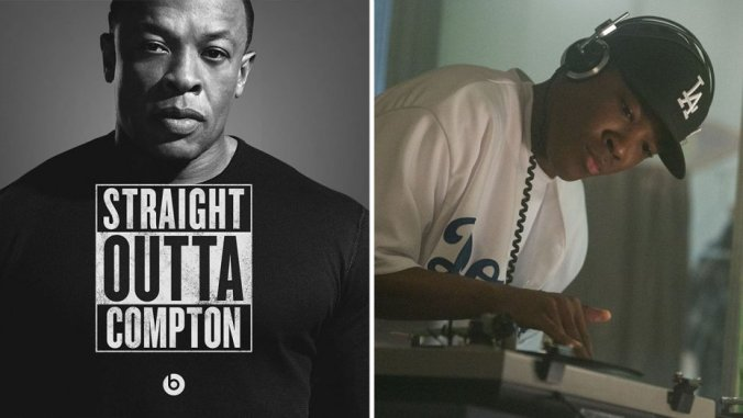 Photo of Straight Outta Compton Logo with Dre