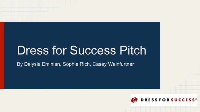 JOUR4530 Final Pitch Dress for Success Page 1