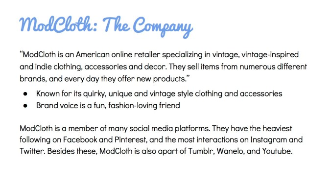 JOUR4530 Final Pitch ModCloth Page 2