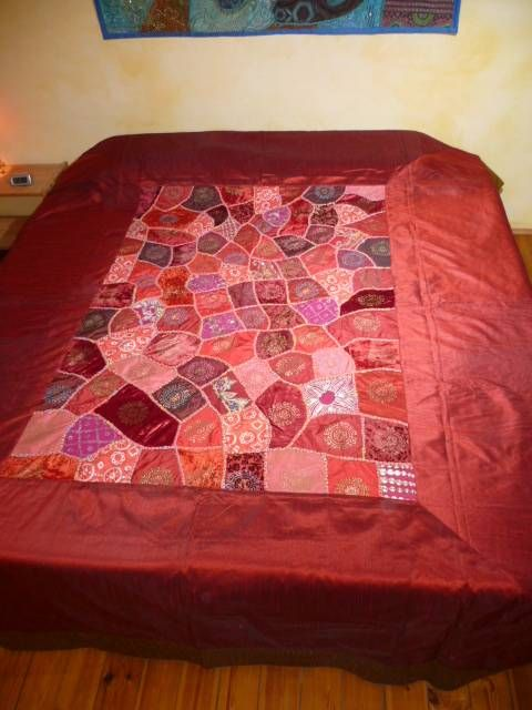 Patchwork Tagesdecke Tagesdecke 'patchwork - Rajasthan' Weinrot - Out Of India