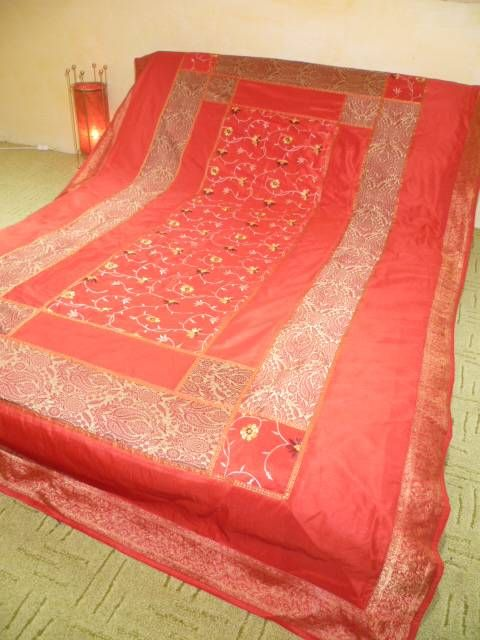 Kissen Bedruckt Tagesdecke 'kerala' Rot - S - Out Of India | Indische