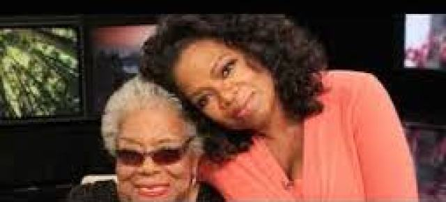 Oprah Winfrey speaks at Maya Angelou Memorial- plus Rainbow In The Clouds by Maya Angelou