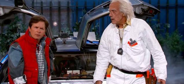 10/23/15 O&A NYC With WaleStylez: Marty McFly & Doc Brown Visit Jimmy Kimmel Live- Back To The Future II