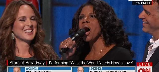 8/3/16 O&A NYC SONG OF THE DAY: What The World Needs Now Is Love -Broadway Sings at the Democratic National Convention