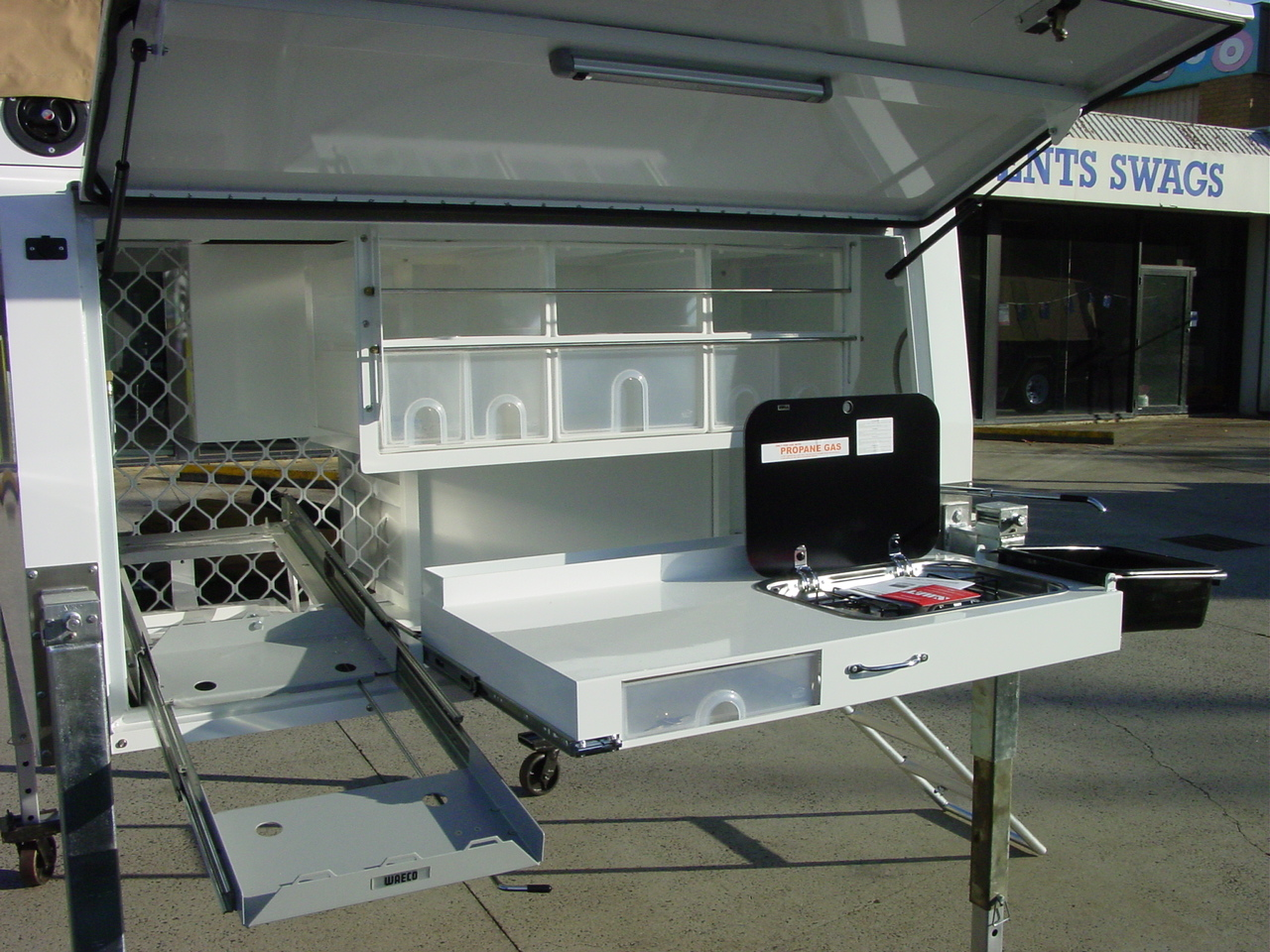 Caravan With Slide Out Kitchen Dual Cab Outback Campers Camper Trailers Melbourne