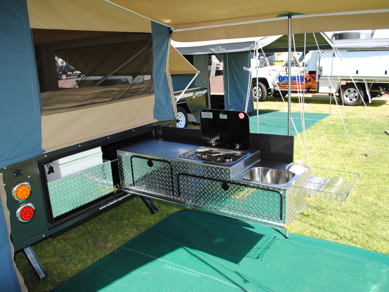 Caravan With Slide Out Kitchen Nullarbor On Road Camper Outback Campers Camper