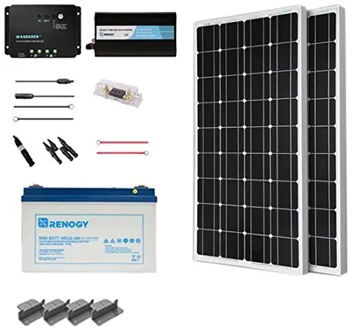 Camper Van Solar Panels  Electrical System with Wiring Diagram