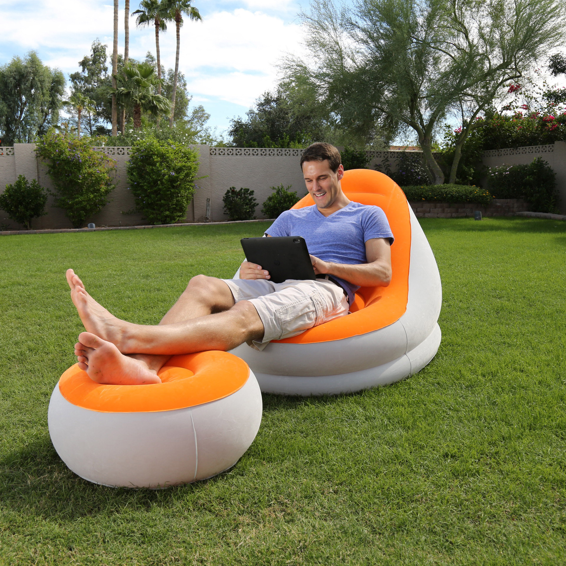 Bestway Doppel-luftmatratze Beach Bed Bestway Inflatable Furniture Comfort Cruiser Air Chair