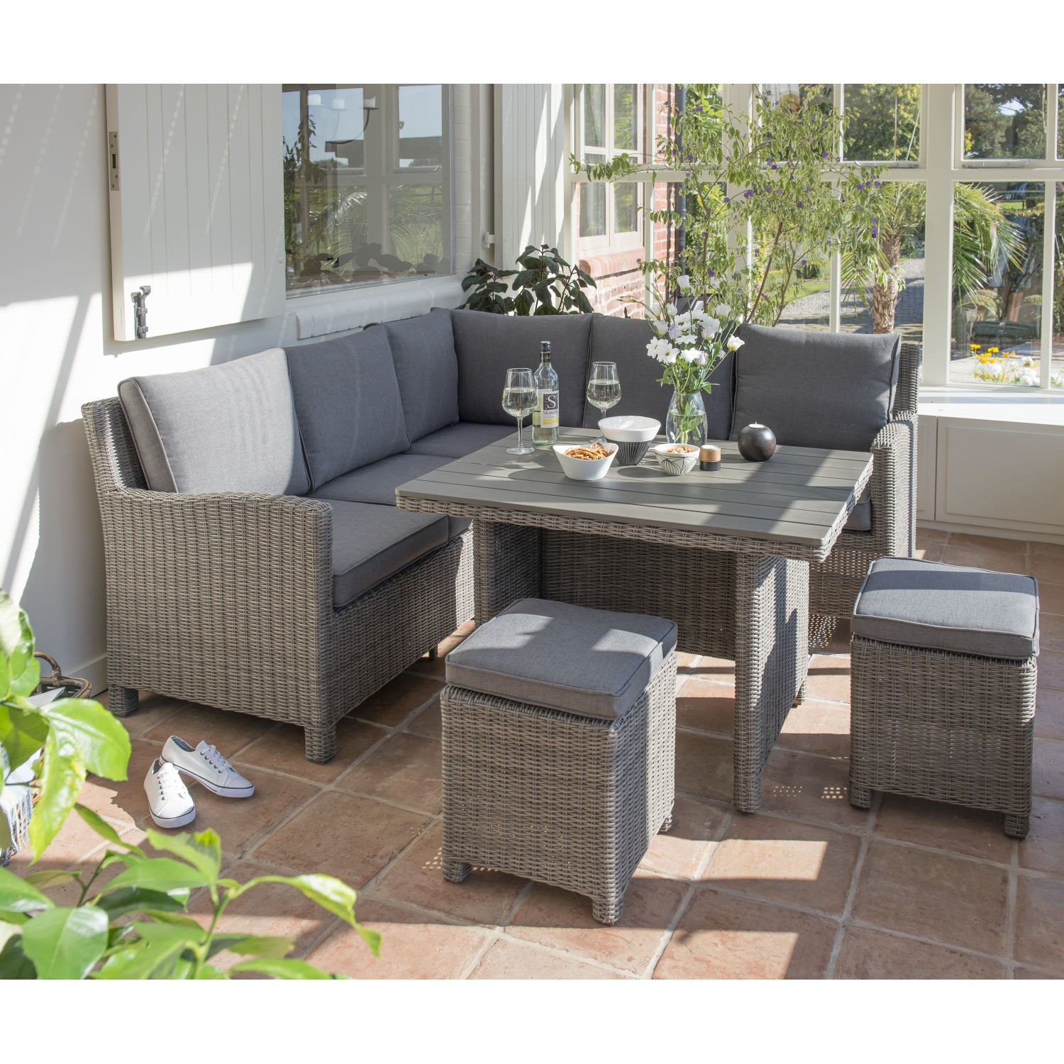 Outdoor Sofa Rattan Kettler Palma Mini Corner Set Rattan Garden Furniture Casual Dining