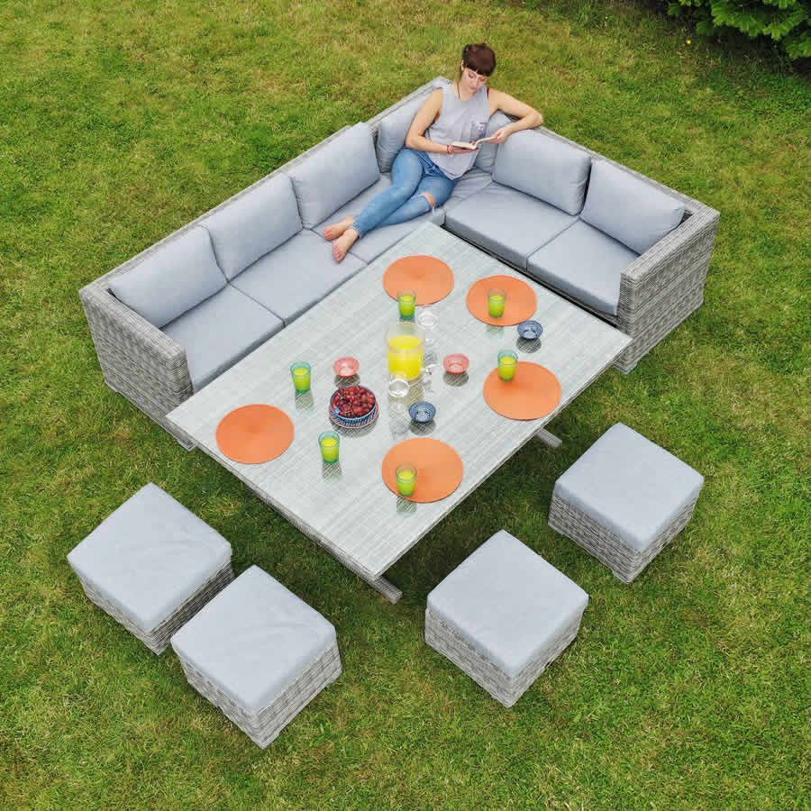 Ottawa Rattan Corner Multi Functional Dining Set
