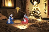 outdoor christmas nativity sets lighted ...