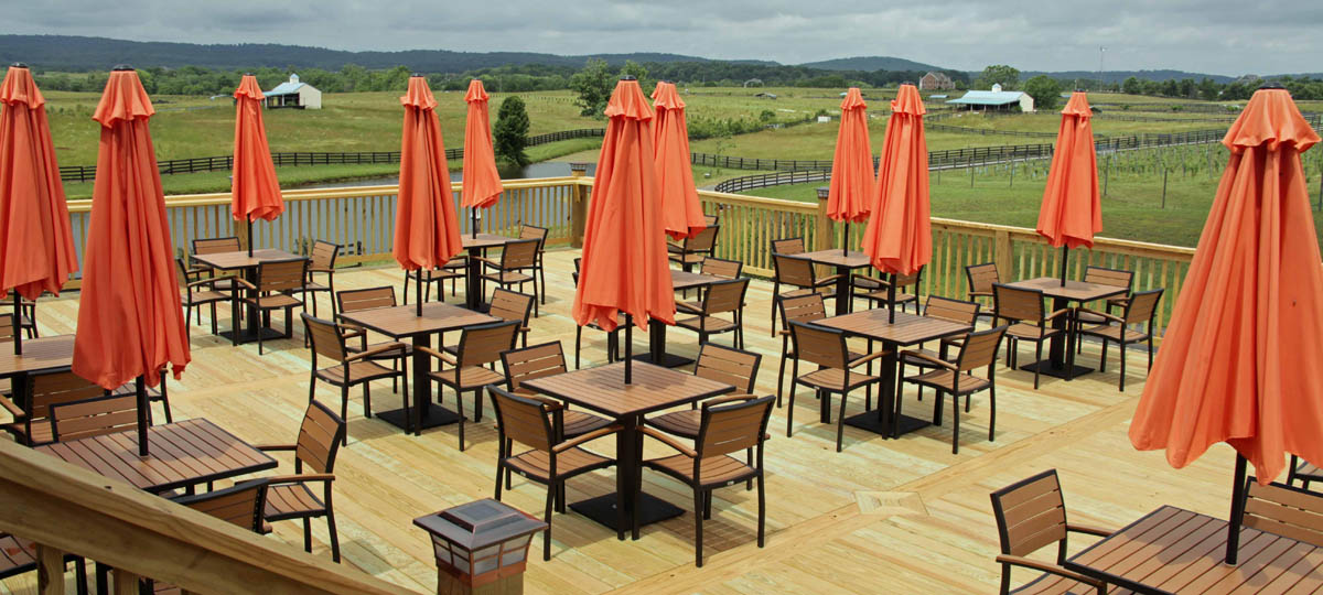 Synthetic Teak Outdoor Restaurant Furniture Perfect For