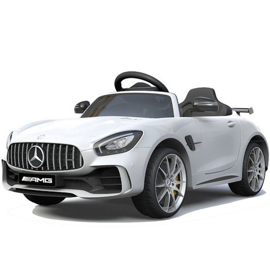 Mercedes Amg Licensed Mercedes Benz Amg Gt R 12v Children S Ride On Car White