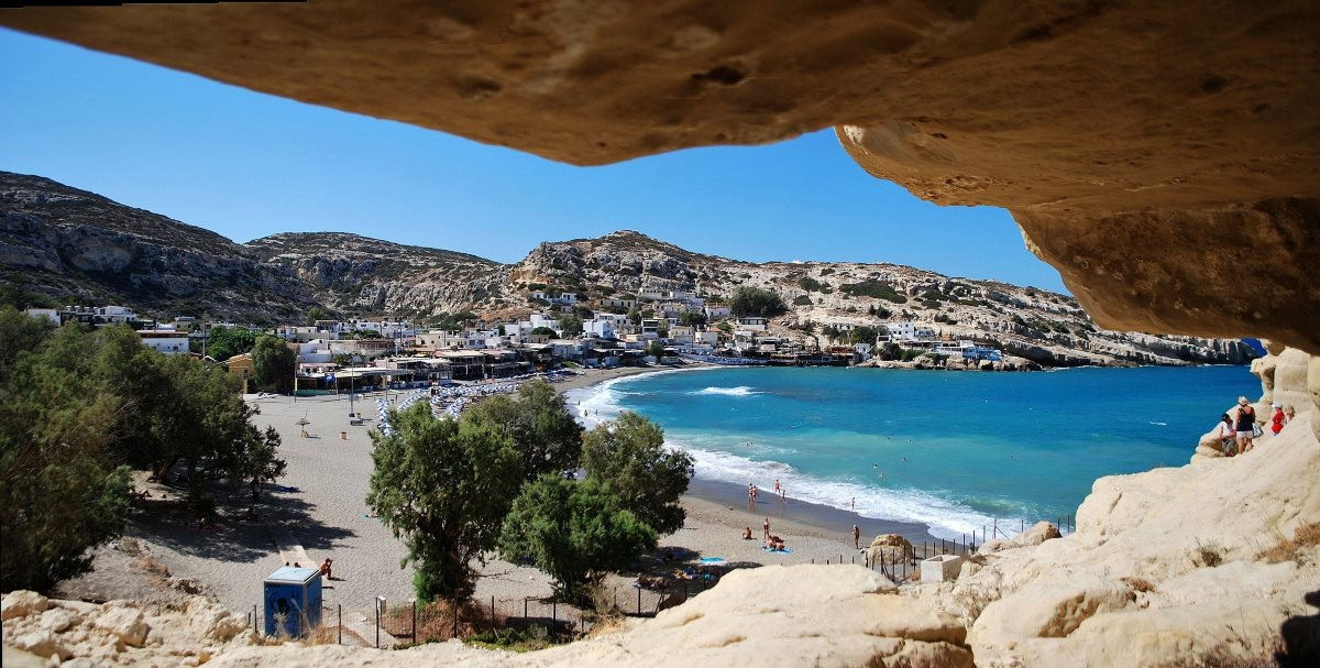 Matala Kreta Hippie Outdoor Travel | Matala - Crete - Greece | Hotels, Cars