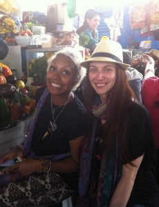 Two beautiful souls in Cusco Market