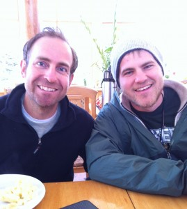 Two beautiful souls at breakfast in the Sacred Valley