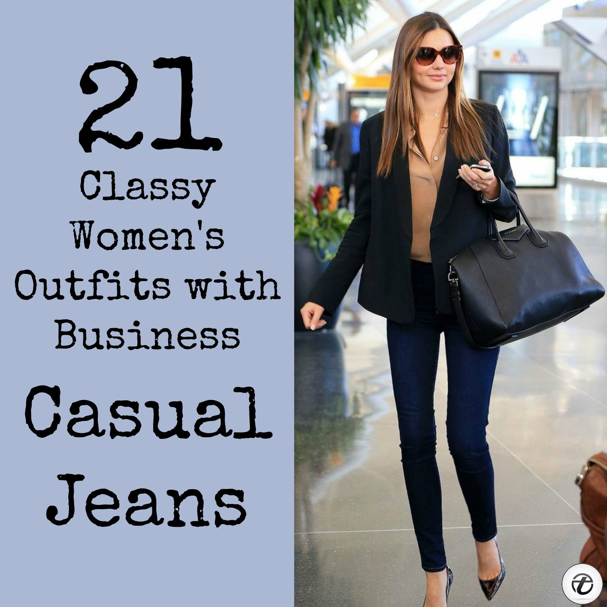 Outfit Business Casual Wearing Business Casual Jeans 21 Ways To Wear Jeans At Work
