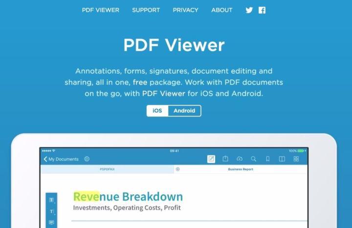PDF Viewer. Travaillez les Pdf sur votre tablette