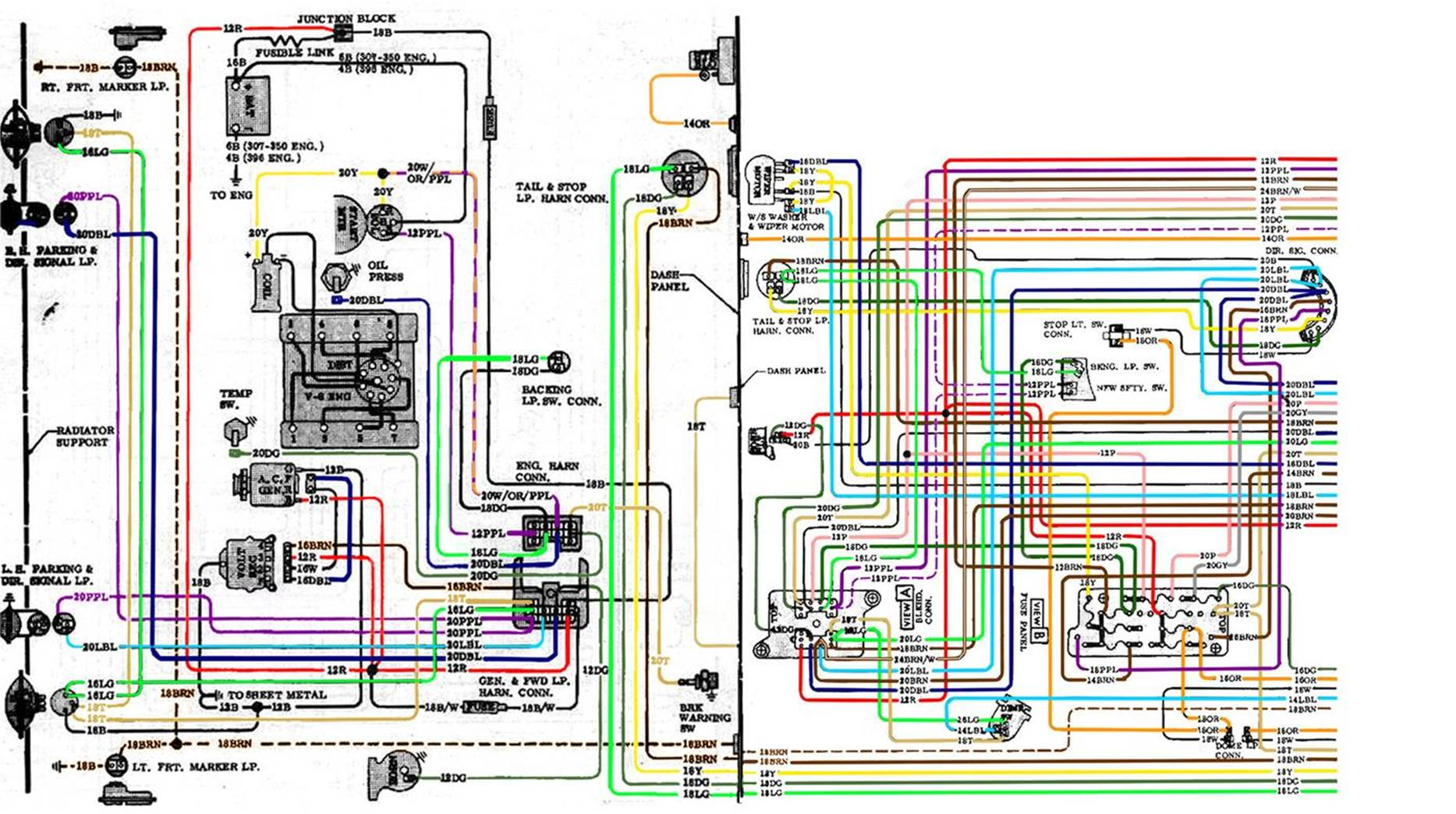1967 chevelle wiring harness diagram