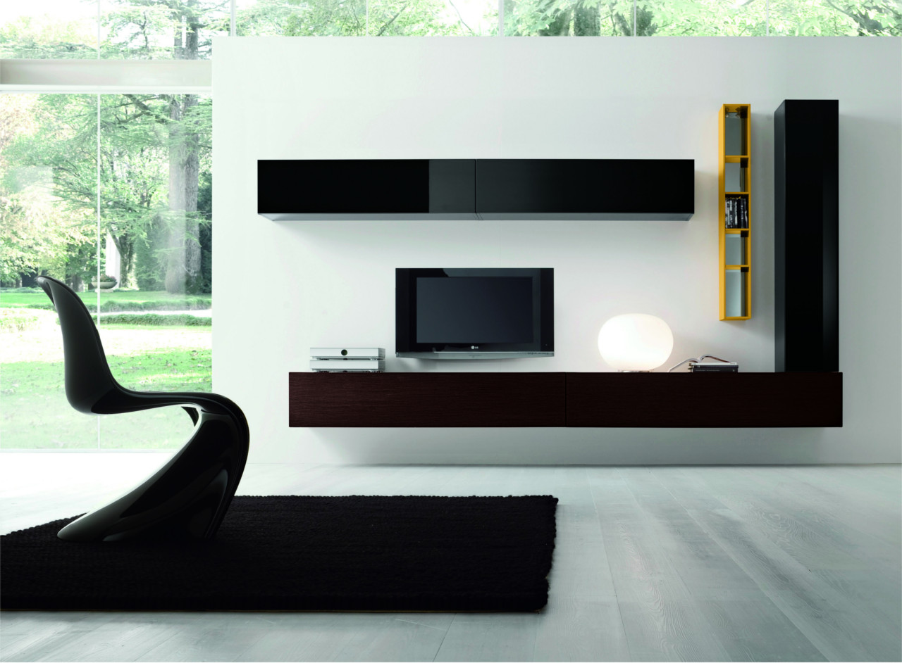 Meuble Tv Design Cache Cable Gallery Soggiorni Moderni - Outlet Arreda - Arredamento