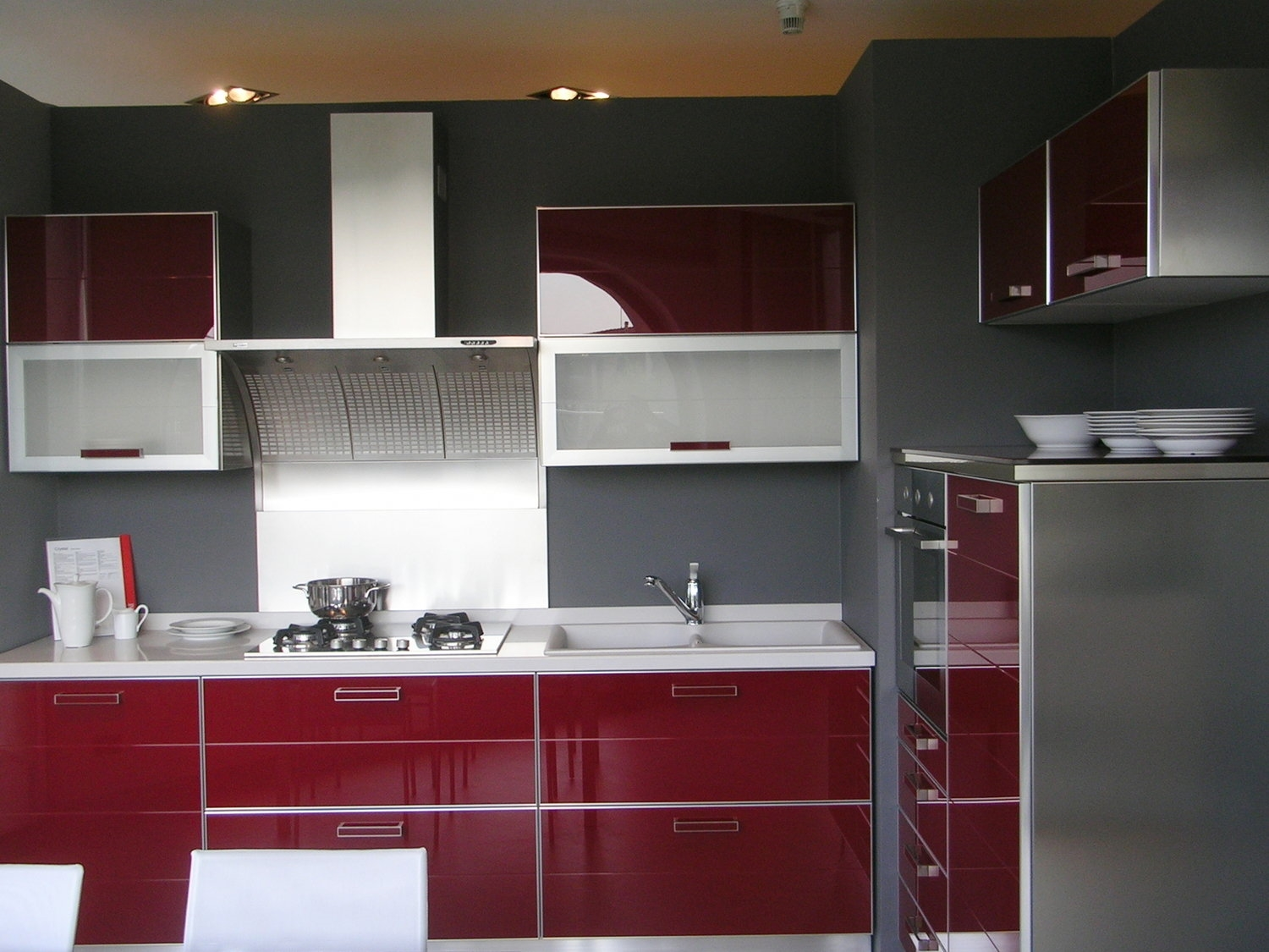 Cucina Midacharme Scavolini Crystal Vetro Rosso With Cucina Rossa