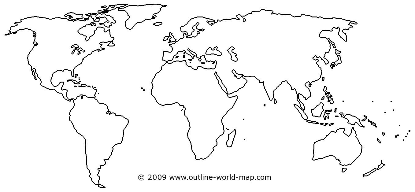 Foto Tumblr Tulisan Blank Transparent Thick World Map - B1c | Outline World