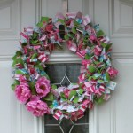 Easy DIY Fabric Wreath for Summer