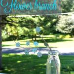 DIY Rustic Flower Branch
