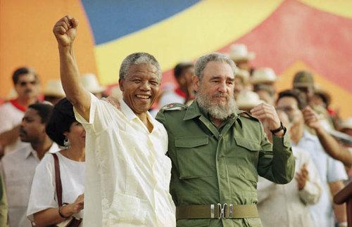 Resultado de imagem para Mandela e Fidel