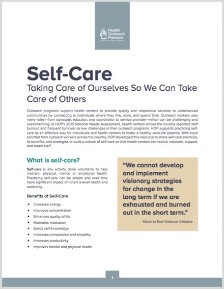 self-care-resource - Health Outreach Partners - self care assessment