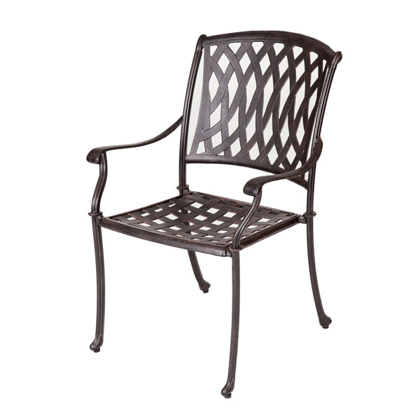 Klappstuhl Garten Metall Aluminium Venetian Chair - Antique Bronze - Outside Edge