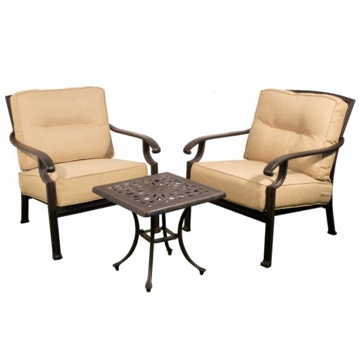 Lounge Sofa Rattan Kensington 53cm Low Table & 2 Lounge Chairs - Outside Edge