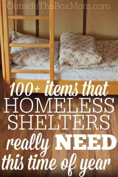 What Homeless Shelters Really Need This Time of Year - Working Mom Blog | Outside the Box Mom
