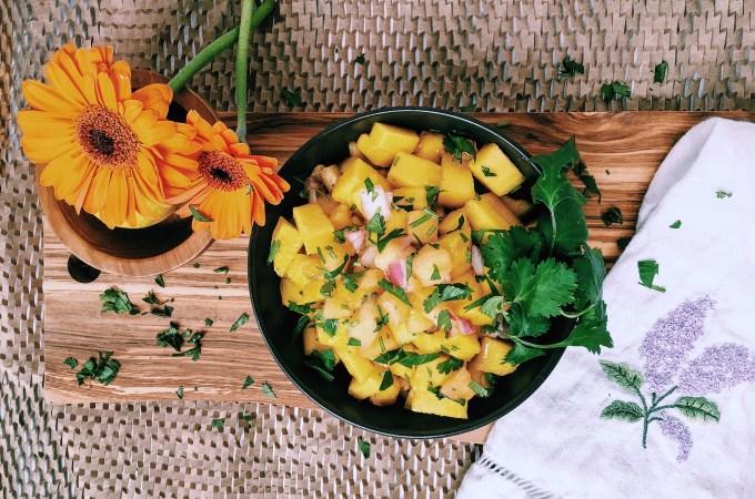 Fresh Pineapple Mango Salsa