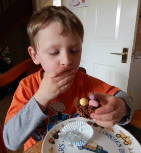 Chocolate Easter Nest Challenge with Salter