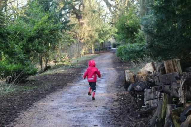 Running around Waddesdon Manor