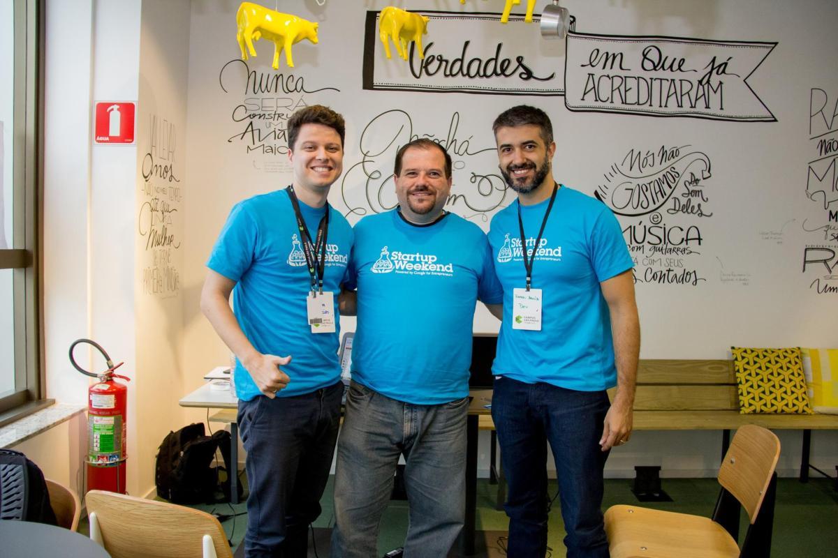 StartupWeekend Dia 1 - Foto da Equipe Fitfy