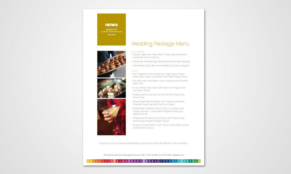 Hotel IVY - Wedding Flyer - Overdog Art - Freelance Graphic Design - wedding flyer