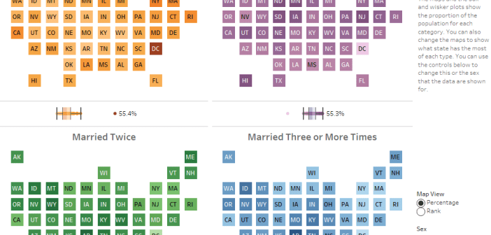How Many Times Have People Been Married in Each State