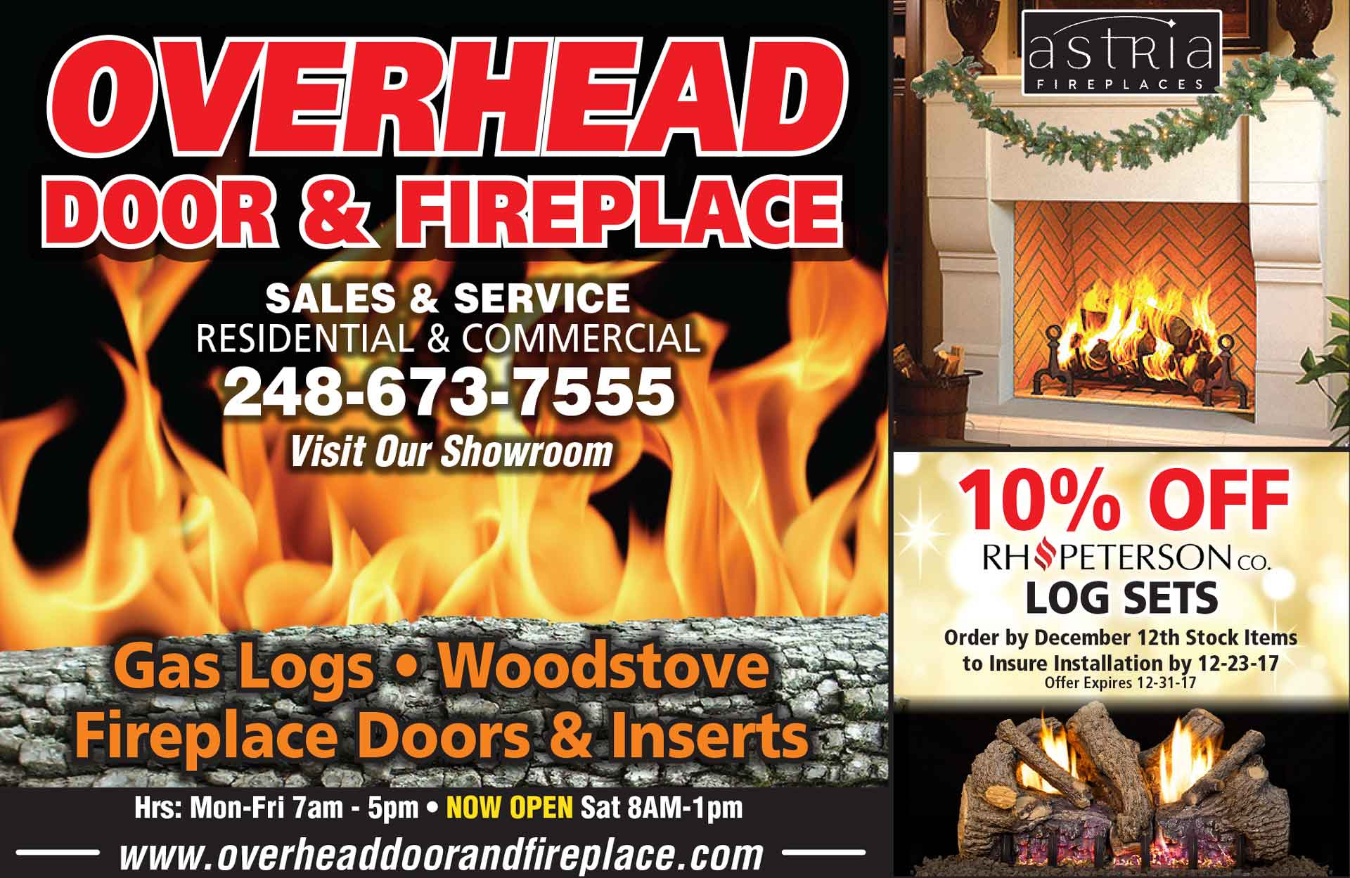 Fireplace Repair Troy Mi Overhead Door Fireplace November Specials Overhead Door