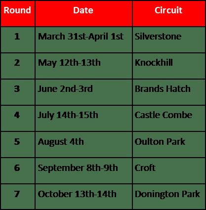 TCR calendar