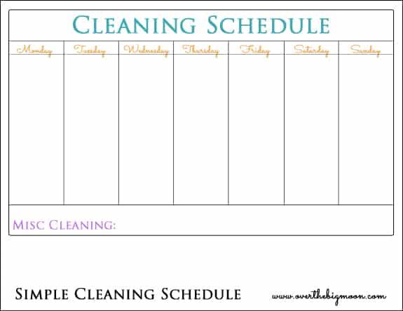 Mom Chore Chart Printable - Over The Big Moon