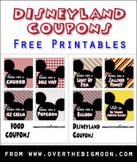 Disneyland Coupon Printables