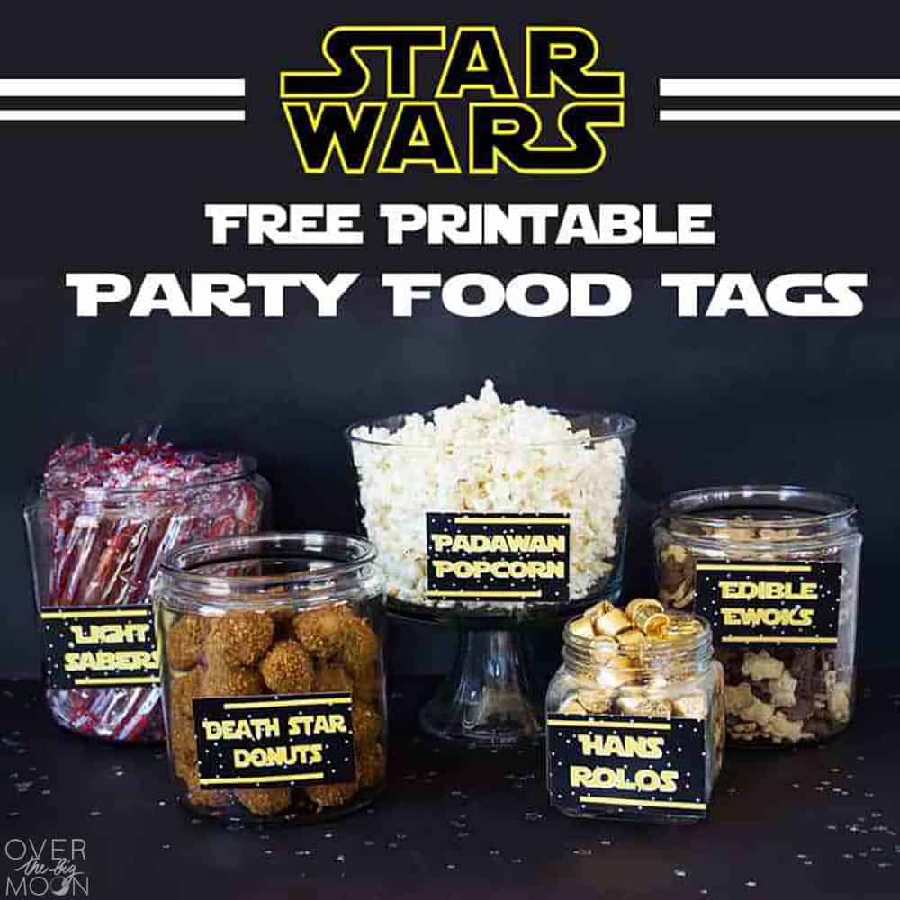 May the 4th Be with You - Star Wars Food Free Printables - Over The