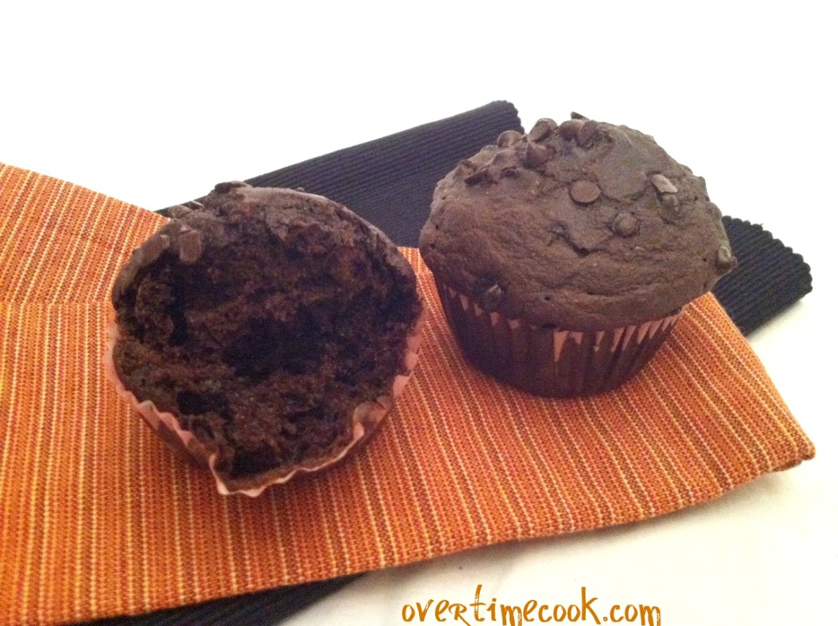 Honestly Healthy Double Chocolate Chip Muffins