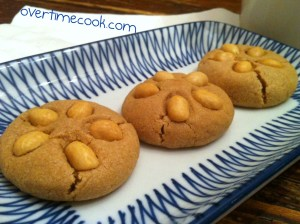 Peanut Topped Peanut Butter Cookies