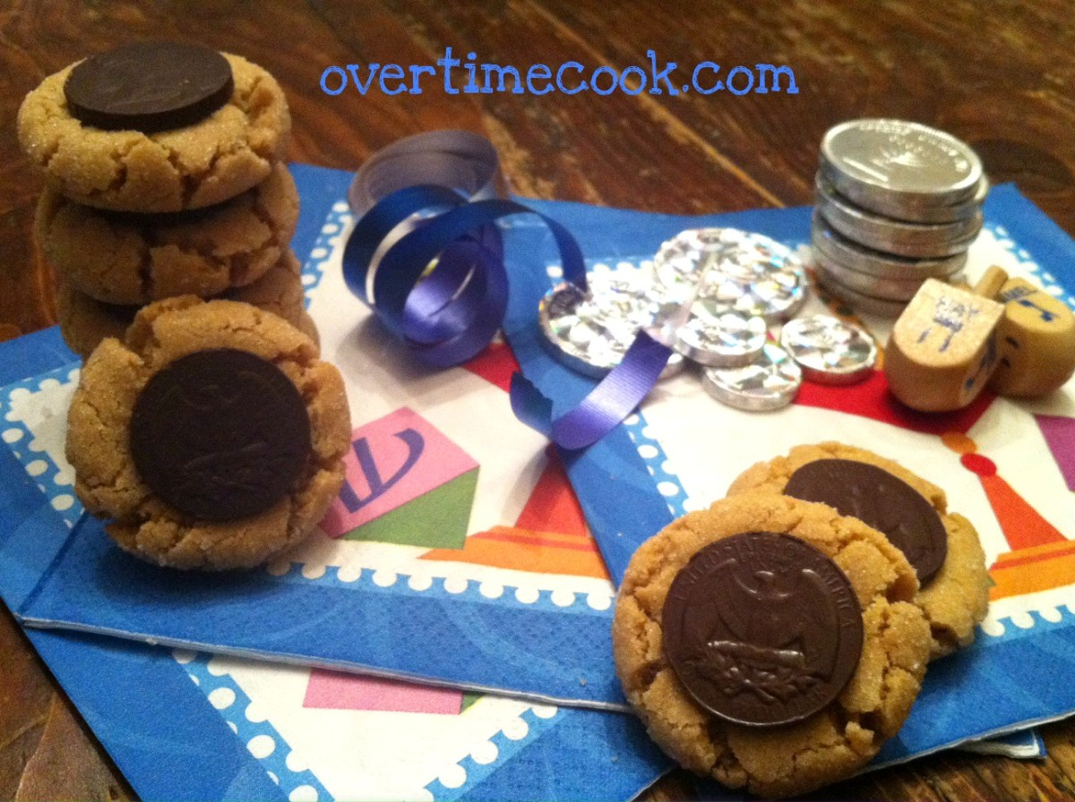 Chanukah Style Peanut Butter Blossoms