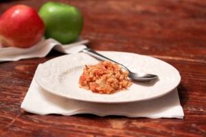 Passover Apple Crumb Kugel