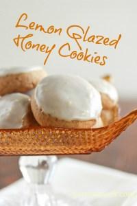 Lemon Glazed Honey Cookies